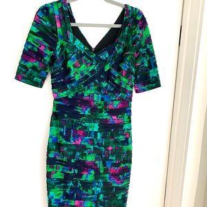 London Times Colorful Sheath Dress size 4